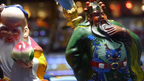 china myth character pottery artwork in store cupboard Animation