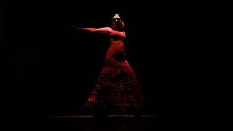 Dance dancer dancing Flamenco spain Stock Video Footage