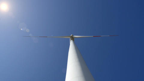 wind turbine wide up loopable 10873 Stock Video Footage