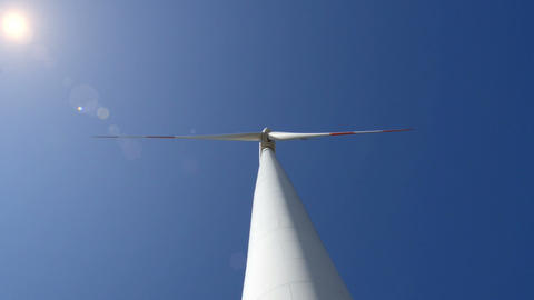 Wind  Turbine  Wide  Up  Loopable 10873 stock footage