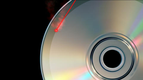 CD DVD burning Stock Video Footage
