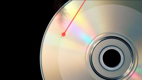 CD DVD burning Animation