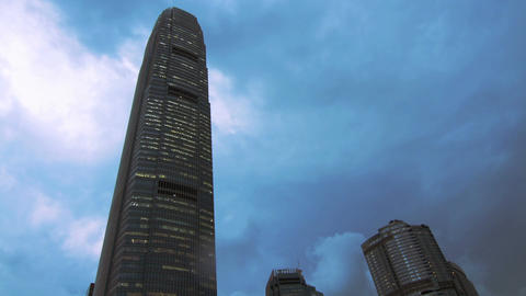 IFC Building with Cloudy Sky Stock Video Footage