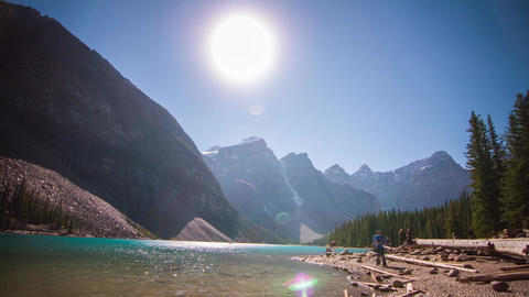 Lake Moraine afternoon Stock Video Footage