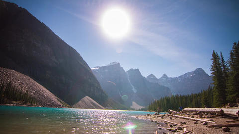 Lake Moraine Afternoon stock footage
