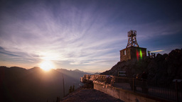 Sunset view at Mt. Sulphur, Banff Stock Video Footage