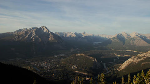 Banff town over Mt. Sulphur Stock Video Footage