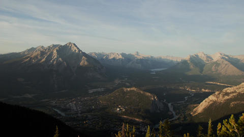 Banff town over Mt. Sulphur Footage