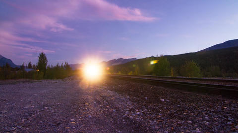 2 Shots of Train coming in and leaving Timelapse Stock Video Footage