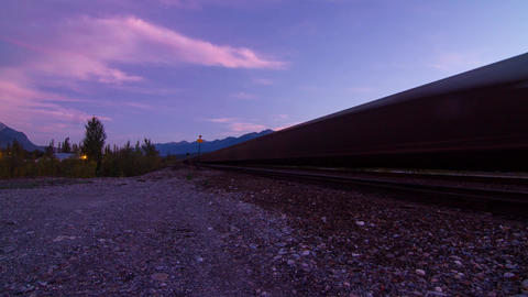 2 Shots Of Train Coming In And Leaving Timelapse stock footage