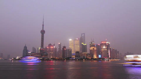 Pudong Day to Night shot Stock Video Footage