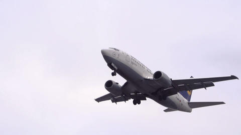 Airplane Landing Close Up stock footage