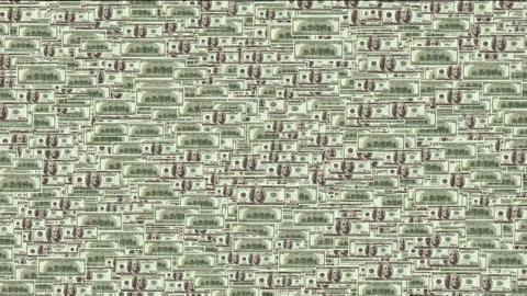 Float looming 100 dollars background Animation