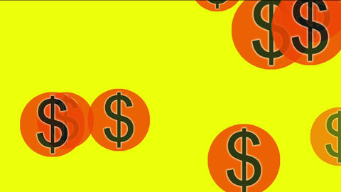 Float USA dollars sign Animation
