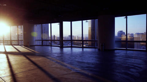 view modern architecture from building window,escape... Stock Video Footage
