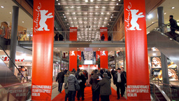 Berlinale tickets queue Stock Video Footage