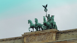 Detail of the Brandenburg Gate Stock Video Footage