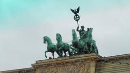 Detail of the Brandenburg Gate Stock Video Footage