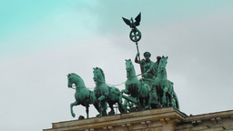 Detail of the Brandenburg Gate Footage