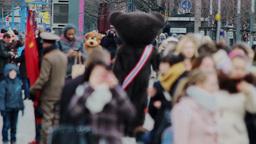 Tourists on Pariser Platz in Berlin Footage