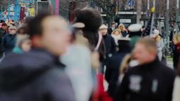 Tourists on Pariser Platz in Berlin Stock Video Footage