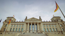 Reichstag building in Berlin Stock Video Footage