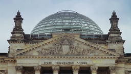Detail of Reichstag building in Berlin Footage