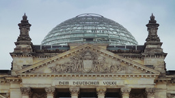 Detail of Reichstag building in Berlin Stock Video Footage