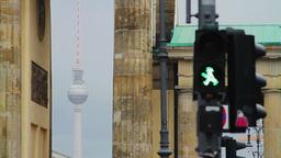 Detail of Berlin city atmosphere Stock Video Footage