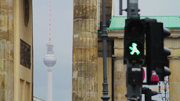 Detail of Berlin city atmosphere Stock Video Footage