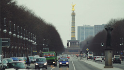 Street Traffic In Berlin stock footage