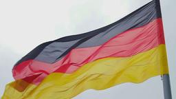 German flag waving Stock Video Footage