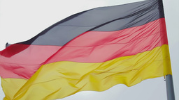 German Flag Waving stock footage