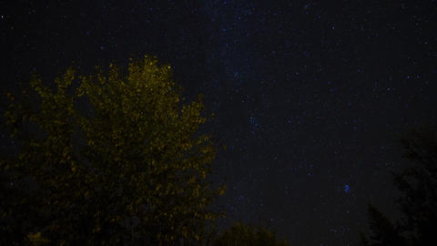 Milkyway of the night sky Stock Video Footage