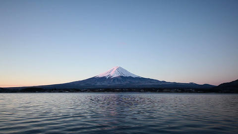 Mt.Fuji at dawn Stock Video Footage
