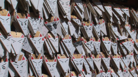 Fushimi Inari fox Stock Video Footage
