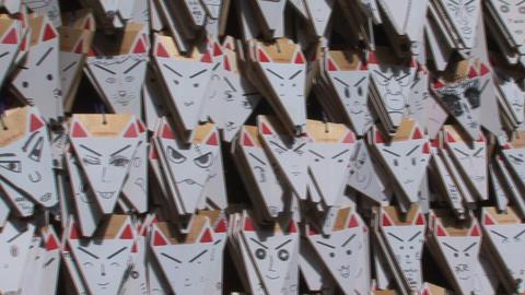 Fushimi Inari fox Stock Video Footage