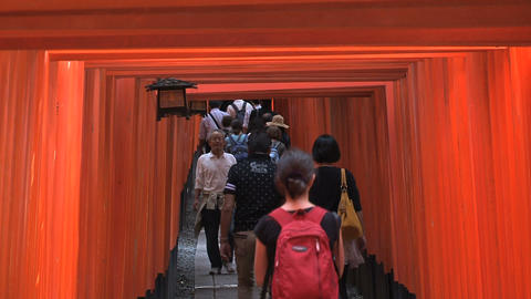 Fushimi Inari people Stock Video Footage