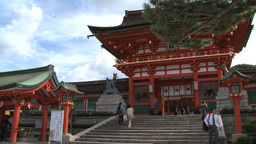 Fushimi Inari Temple entrance Stock Video Footage