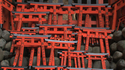 Fushimi Inari Temple tilt Stock Video Footage