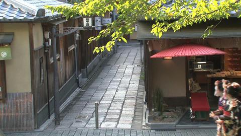 Geishas walking in Kyoto Stock Video Footage
