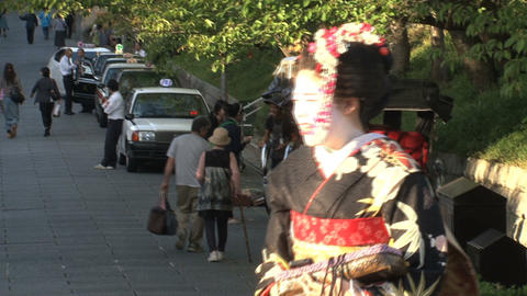 Geishas in Kyoto Stock Video Footage