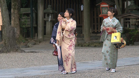 Girls kimono Stock Video Footage