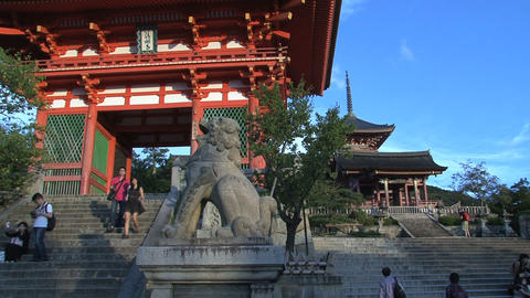 Kiyomizu Temple entrance Stock Video Footage
