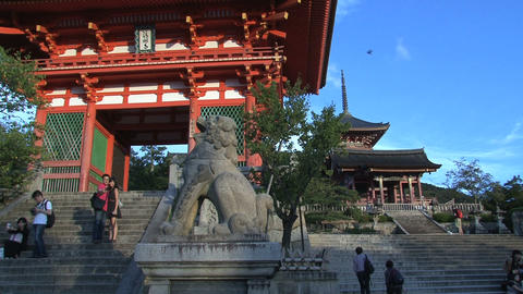 Kiyomizu Temple entrance Footage