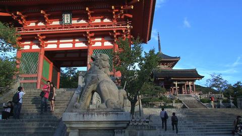 Kiyomizu Temple entrance Stock Video Footage