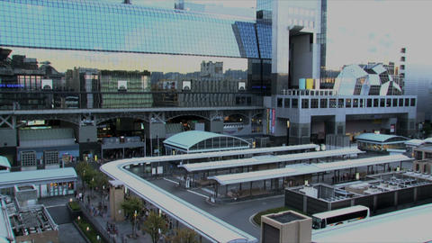 Kyoto station timelapse Footage