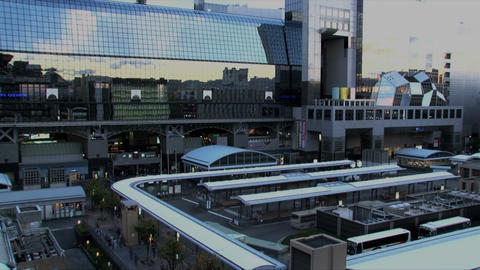 Kyoto station timelapse Stock Video Footage