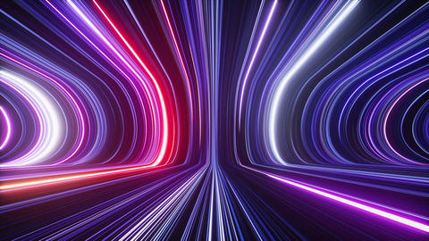 3d abstract futuristic neon background, ultra violet glowing lines, laser rays, speed of light Animation