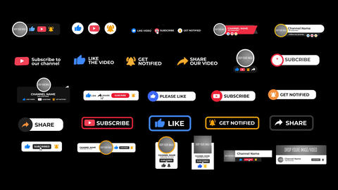 Youtube Subscribe Elements After Effects Template